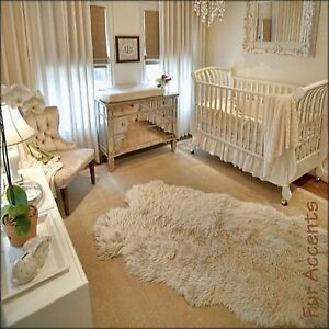 Image Is Loading Fur Accents Tan Sheepskin Accent Rug Faux