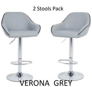 Fantastic Details About 2 X Verona Grey Bar Stools Barstool Kitchen Pub Stool Breakfast Bar Chair Bar Cjindustries Chair Design For Home Cjindustriesco