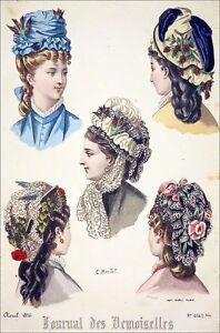 Mode De Paris 1876 Coiffures De La Fin Du 19eme Siecle Planche