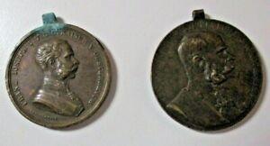 AUSTRIA-UNGHERIA-lotto-2-medaglie-FRANCESCO-GIUSEPPE