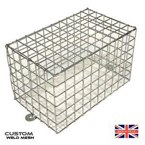 Wire-mesh-guards-CCTV-camera-cage-Lights-anti-vandal-Bespoke-sizes-UK-Made