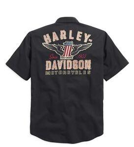 nero uomo da Camicia Harley manica per Uomo Davidson camicia 1 3xl corta qP6w46g