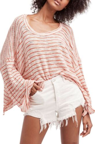 colori Shirt Island Stripe Beach Free Ragazza People We Hacci 4 The Top Pullover Nwt vTASORx