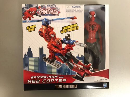 Marvel Ultimate Spider-Man Figure Titan Hero Series Includes Web Copter