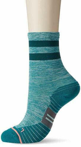 Medium Stance Women/'s Uncommon Solid Run Crew Socks 3 Pack Teal