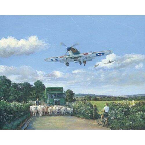 Les aéronefs nostalgique carte de vœux Hawker Hurricane débarquement nouveau