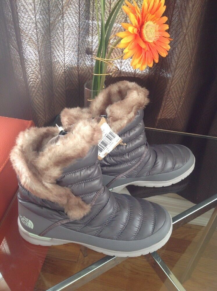 The North Face Face Face ThermoBall Microbaffle Bootie II Shiney Frost Grey 3ec00b