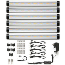 LED Under Cabinet Lighting Light 6 Panel Kit 12V Closet Light Warm White  1800lm