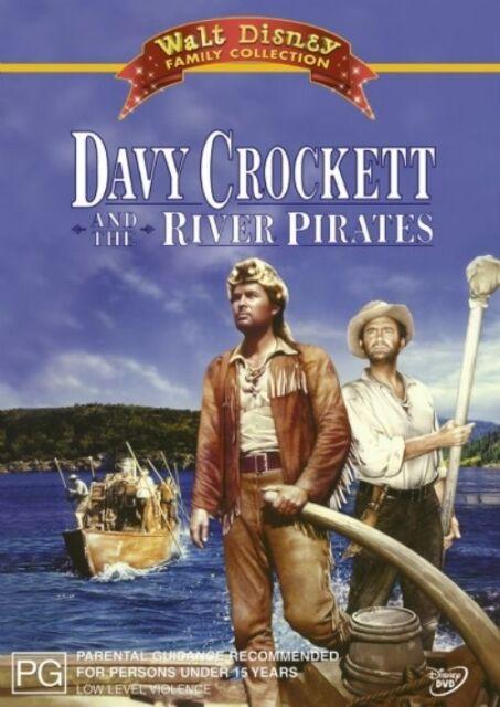 Davy Crockett And The River Pirates (DVD) Walt Disney Rare OOP VGC! t919
