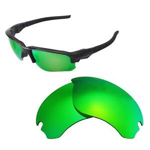 98e82f52458 Image is loading Walleva-Emerald-Polarized-Replacement-Lenses-For-Oakley -Flak-