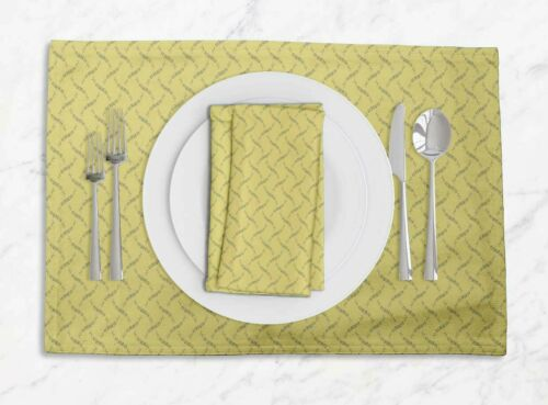 Details about  /S4Sassy Elm Leaves Washable Placemats /& Napkins Table Decor Dining Mats-LF-549Q