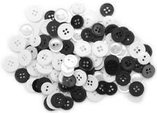 """13 Buttons 1//2/"""" White Blooms Blumenthal Lansing Favorite Findings Buttons"""