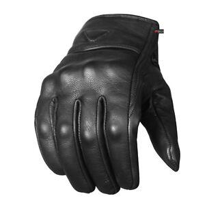 Men-039-s-Premium-Leather-Street-Motorcycle-Protective-Cruiser-Biker-Gel-Gloves