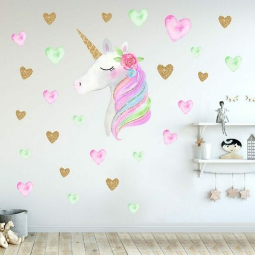 Unicorn Wall Decal Wall Sticker for Bedroom Girl/'s Room Decor