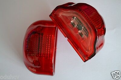 2 LED Rear Tail Red Marker Lights & Number Plate Lamps 24V Truck Trailer Bus Van
