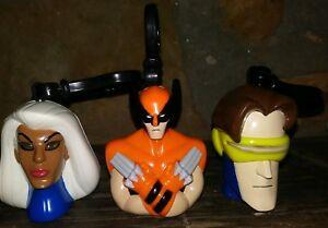 Taco-Bell-2001-X-Men-Evolution-SPARKING-STORM-Wolverine-Cyclops-Key-Clip-MARVEL