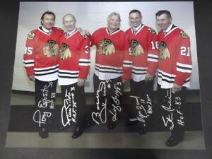 Chicago Blackhawks Hof's Multi-signed 16x20 Photo Auto Psa/dna Af01859 5 Humor