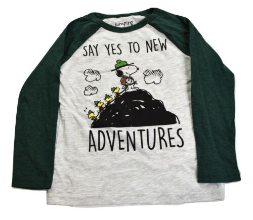 Jumping Beans Boys Peanuts Snoopy Say Yes To New Adventures Tee Shirt New 4-10