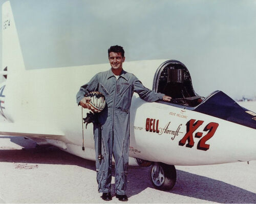 """Bell X-2 /""""Starbuster/""""  on the Lakebed with Pete Everest Jr 8/"""" x 10/"""" Photo"""