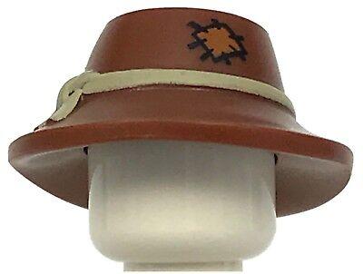 ☀️NEW Lego City Boy//Girl Minifig Hat Reddish Brown Ranger Brim Explorer Calvary