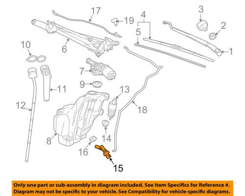 GM OEM Wiper Washer-Windshield-Fluid Level Sensor 13319533