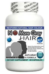 No More Gray Hair Anti Grey Pills Catalase Restores Reverses Gray