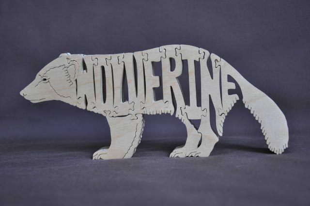 Fun Sloth Animal Puzzle Wood Amish Made Scroll Saw Toy NEW Figurine Art