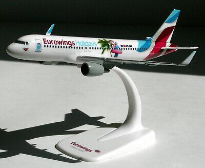 "Herpa 611893 Eurowings Europe Airbus a320 /""Eurowings Holidays/"" Snap-Fit 1:200"