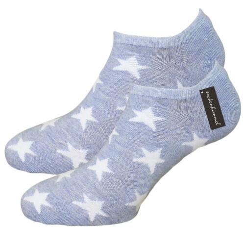 De Chaussettes Sneaker Femmes 12er Pack-Motif étoiles-avec 95/% Coton 35-42