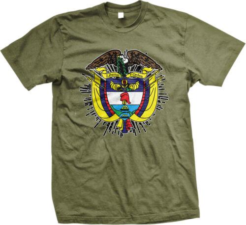 Coat of Arms Colombian Pride República de Colombia Bogotá Mens T-shirt