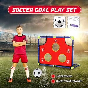 Kids-Soccer-Goal-Target-Play-Set-Backyard-Outdoor-Football-Sport-With-Ball