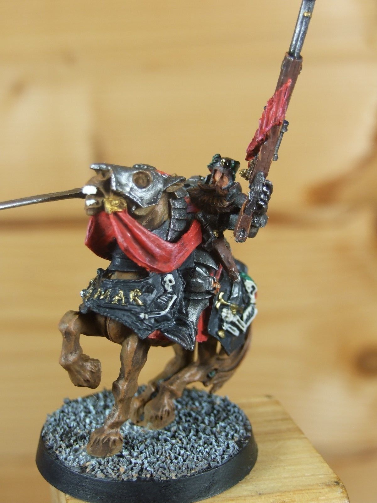 CLASSIC METAL WARHAMMER EMPIRE LORD ENGINEER MOUNTED WELL PAINTED (L)