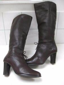 Stivali 5 Victorian marrone al alti donna Retro in Uk Steampunk ginocchio taglia pelle Carvela rfOrwYqv