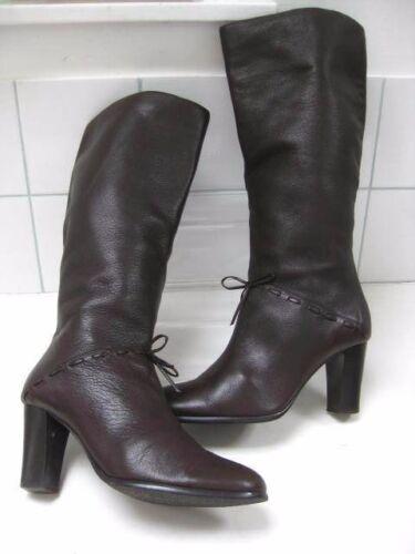 donna Stivali marrone alti al Steampunk in Retro taglia ginocchio Victorian pelle Carvela 5 Uk xpB1pnqrH