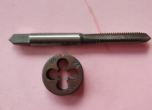 Lots-1pc-HSS-Machine-1-4-24-UNS-Plug-Tap-and-1pc-1-4-24-UNS-Die-Threading-Tool