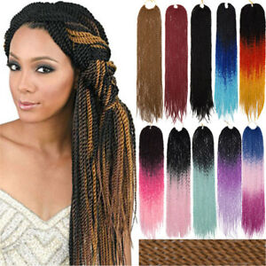 Image Is Loading Long Brown Ombre Senegalese Twist Braids Crochet Hair