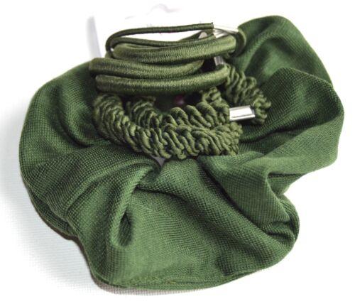 NUOVO back to school scuola verde scuro Set di elastico e Elastico Per Capelli Bobbles