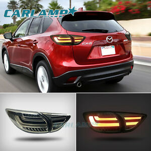 led tail lights for mazda cx 5 2013 2016 smoked black rear. Black Bedroom Furniture Sets. Home Design Ideas