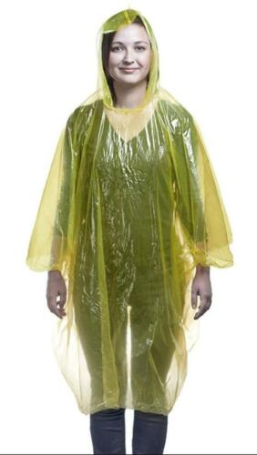 Emergency Poncho Unisex Adult Waterproof Plastic Vinyl Disposable Raincoat Cape