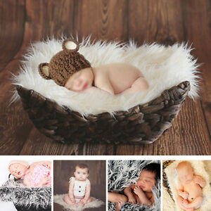 Newborn Baby Girls Boys Infant Backdrop Blanket Photo Photography