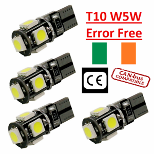 4x-Canbus-LED-Error-Free-T10-6000k-HID-White-W5W-Bulbs-Side-Parking-Lights-12V
