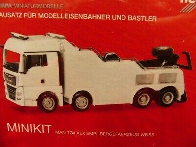 1/87 Herpa Minikit Man Tgx Xlx Euro 6c Empl Bergefahrzeug Weiß 013574