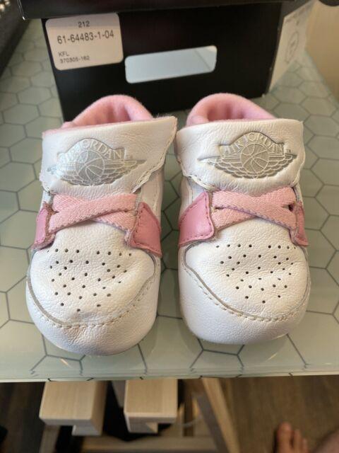 Nike Jordan 1st First Crib Shoes White