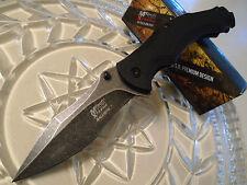 schwarz MTech Xtreme Einhandmesser mit A//O Edelstahlklinge und G-10 Griff