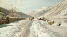 Monsted Peder Winter In Ponte Campovasto Switzerland Canvas 16 x 20     #5279