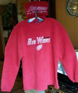 8792edd897e Men s Pro Edge Detroit Red Wings NHL Hockey Fleece Sweatshirt   Nice ...