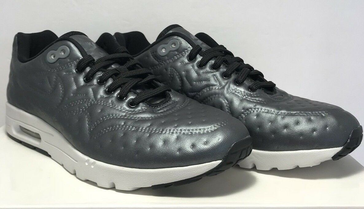 Nike Womens Size 8 Air Max 1 Ultra Premium Jacquard Grey Athletic Running shoes