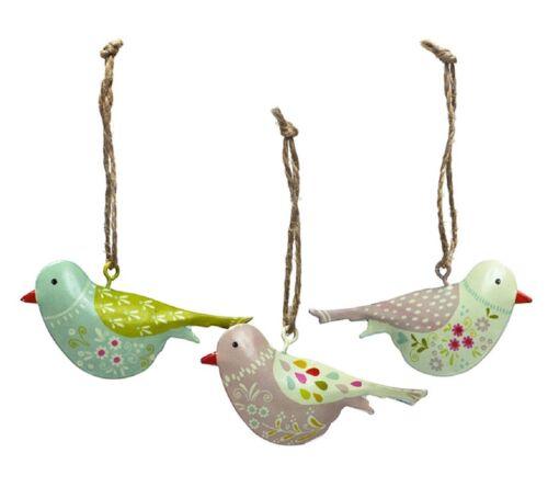 """Set 7cm Hänge-Dekoration /""""Lovely Birds/"""" Aufhängen Fenster Deko Wendekreis 3tlg"""