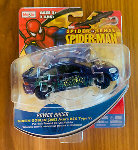 Maisto-Marvel-Spider-Sense-Spider-Man-Green-Goblin-Power-Racer-Diecast-Car-VHTF