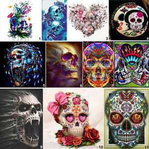 Skull DIY 5D Diamond Painting Embroidery Skeleton Cross Stitch Kits Home Decor